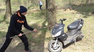 Как снять пластик с китайского скутера