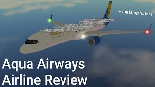 Aqua Airways ROBLOX Airline Review + roasting haters
