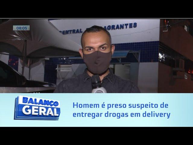 Homem é preso suspeito de fazer entrega de droga em delivery