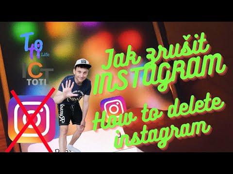 Jak smazat instagram, Jak zrušit instagram, How to delete instagram,Jak odstranit účet na instagramu