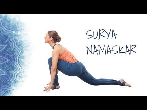 Surya Namaskar followed by 10 minute meditation | Sun Salutation