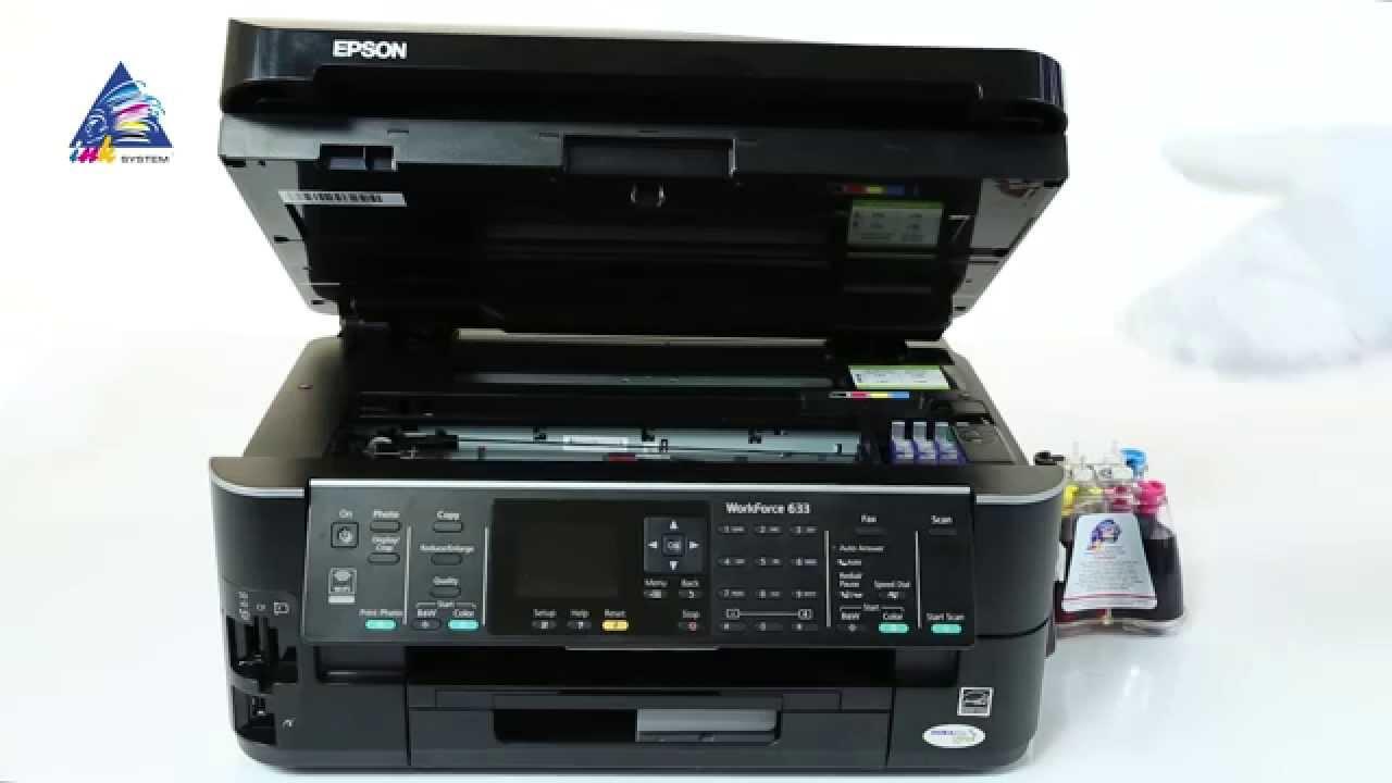 Установка СНПЧ на принтер Epson PX-1004 - YouTube