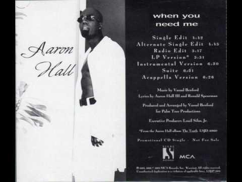 Aaron Hall - When You Need Me (Single Edit)