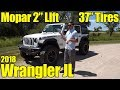 Lifted 2018 Jeep Wrangler Rubicon JL with 2 inch Mopar Lift!! Detailed Walkaround and Review!