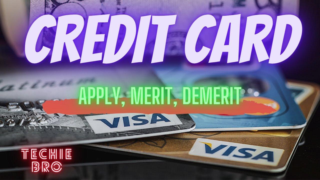 Credit card kaisse Apply kare    Benifits    Merit   Demerit    All Information (Techie Bro ...
