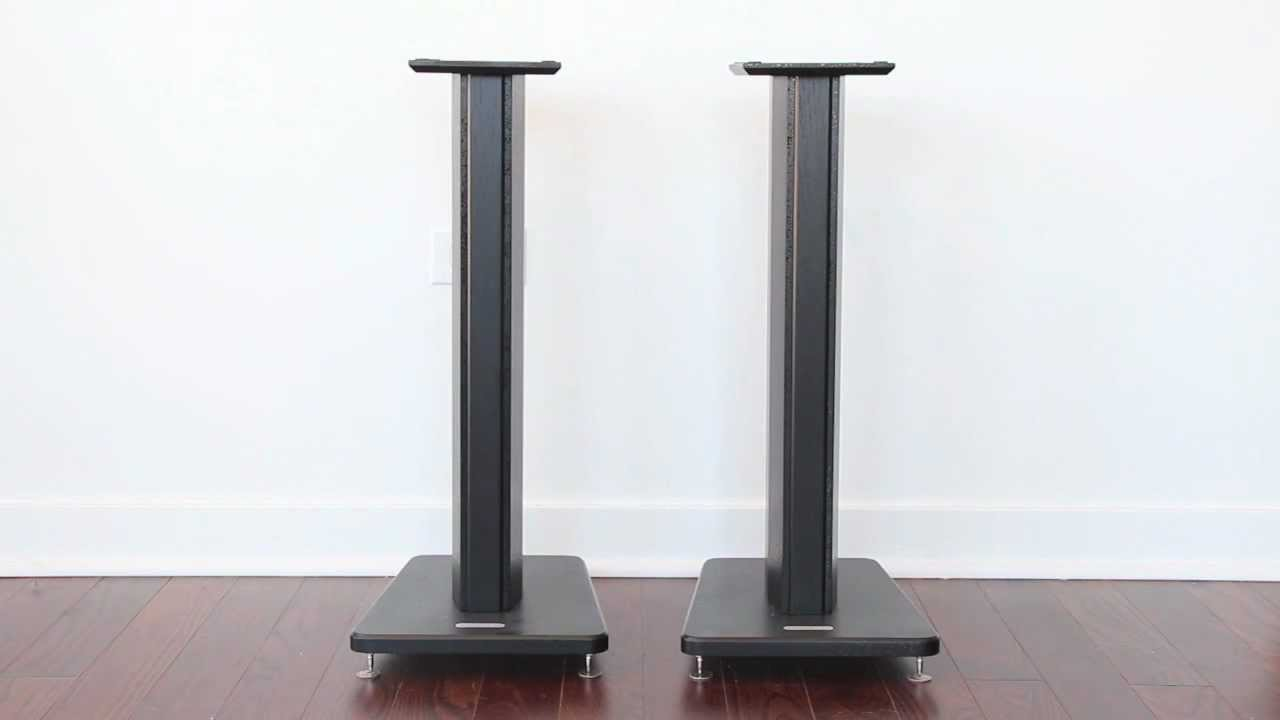 speakers and stands. speakers and stands j