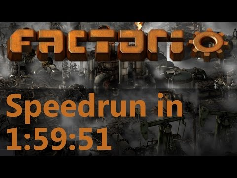 Factorio Speedrun in 1:59:51 by AntiElitz (any%) [0.12 World