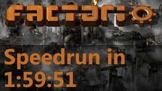 Factorio Speedrun in 1:59:51 by AntiElitz (any%) [0.12 World Record]