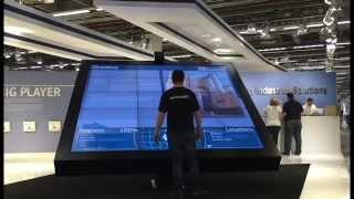 200 Zoll Touch Monitor bei ThyssenKrupp präsentiert von Blickfang Messebau