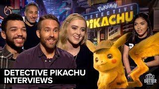 Pokemon Detective Pikachu Interviews | Ryan Reynolds, Justice Smith, Kathryn Newton, Rob Letterman