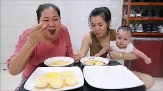 Vlog ăn vặt 12 ll Ngân Làm Bánh Flan Công Thức Cực Dễ Và Rất Ngon