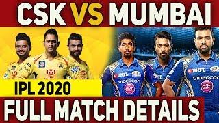 IPL 2020: CSK Vs MI Match Full Details   Schedule 2020   #Nettv4u