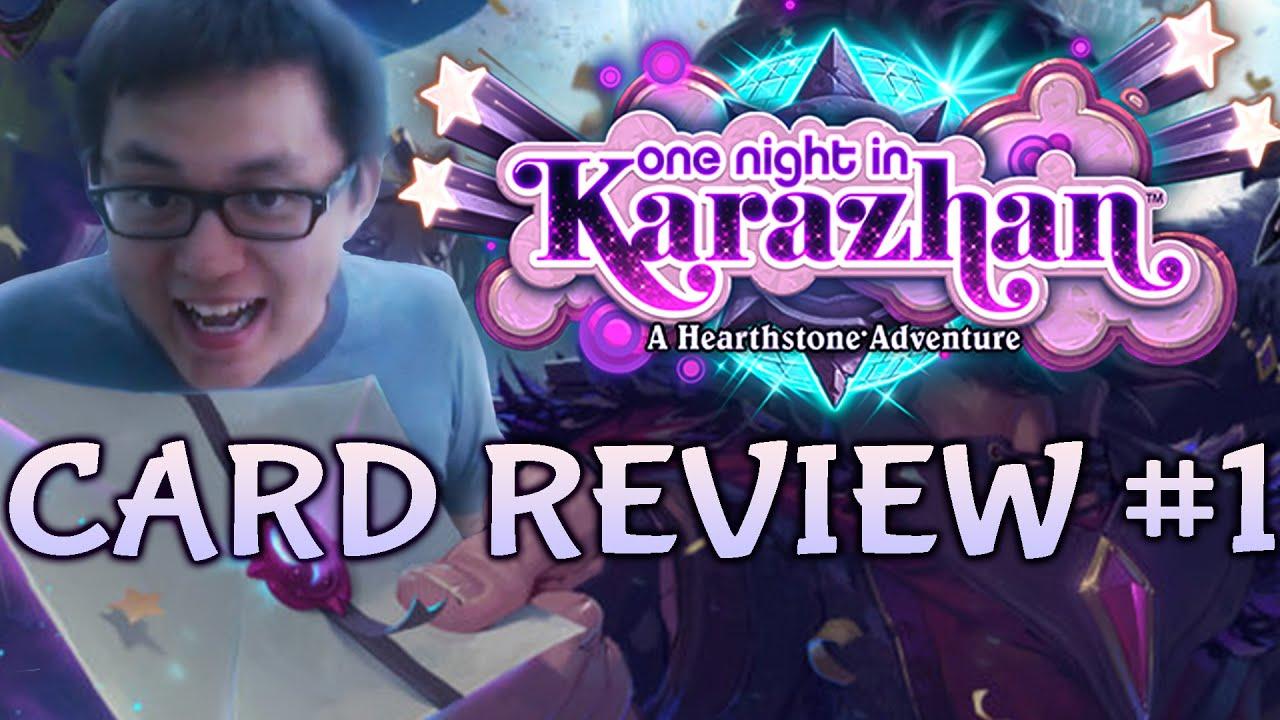 [Hearthstone] One Night in Karazhan Card Review #1