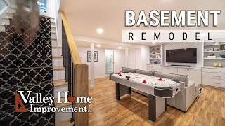 Basement Remodel with Full Bath by Valley Home Improvement