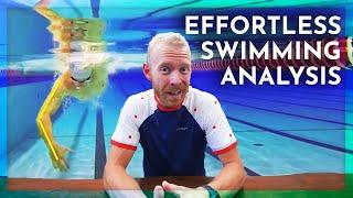 EFFORTLESS SWIMMING triathlon swim technique ANALYSIS