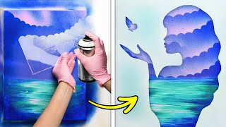SIMPLE PAINTING TUTORIAL || Fantastic Art Techniques To Draw A Real Masterpiece