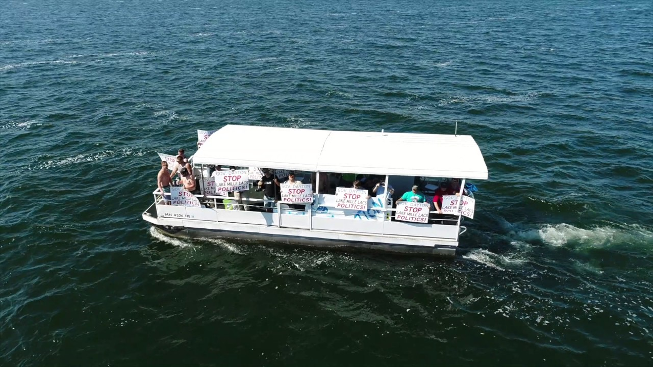 Boat Rally On Mille Lacs Lake By Twin Pines Resort When Governor