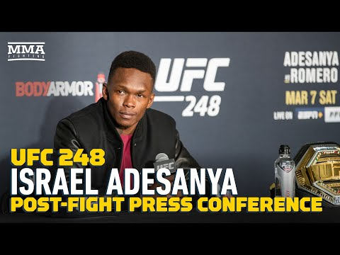 UFC 248: Israel Adesanya Post-Fight Press Conference - MMA F