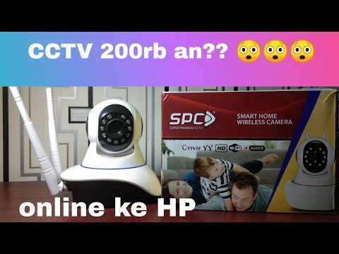 Review CCTV wireless murah dan tutorial setting IP Cam SPC