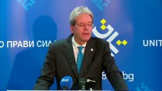 Vertice Ue - Balcani occidentali, punto stampa di Gentiloni