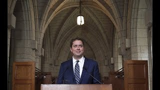 Andrew Scheer addresses media about Bernier comments