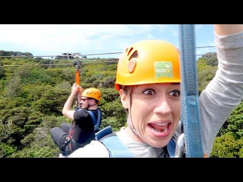 I GOT STUCK ON A ZIPLINE IN NEW ZEALAND!