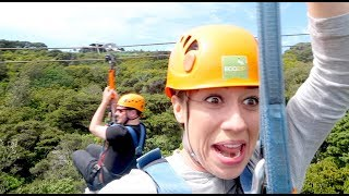 Видео I GOT STUCK ON A ZIPLINE IN NEW ZEALAND! от Colleen Vlogs, Новая Зеландия