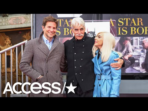 Lady Gaga & Bradley Cooper Support Sam Elliott At His Hand & Footprint Ceremony