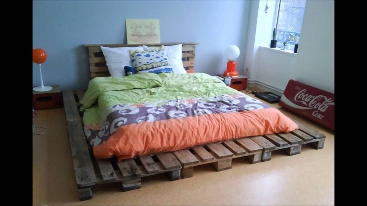 20 brilliant wooden pallet bed frame ideas for your house YouTube