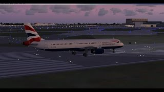 -FSX-  Brtish Airways A321 - From London To Cardiff  - Short Sunset Flight -