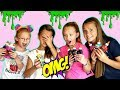 3 Colors of GLUE SLIME Challenge!!! ft. Marissa and Brookie