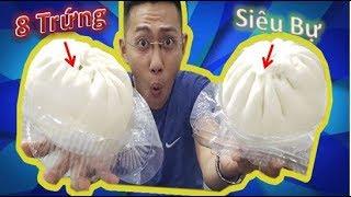 Thử Thách Ăn 2 Cái Bánh Bao 8 Trứng Khổng Lồ 40k Và Cái Kết | Bánh Bao Thọ Phát.