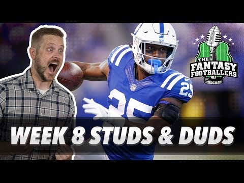 Fantasy Football 2018 - Week 8 Studs & Duds, Rising Stars, HUE-ge News! - Ep. #638