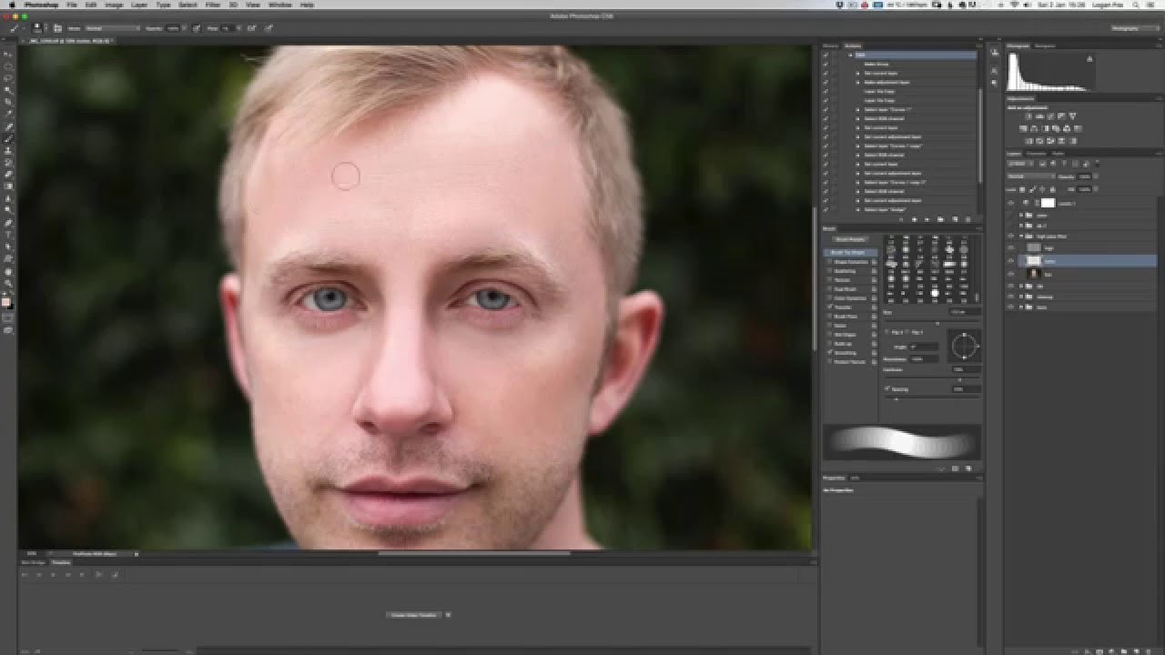 retouching a self portrait taken with canon 6d speed art youtube