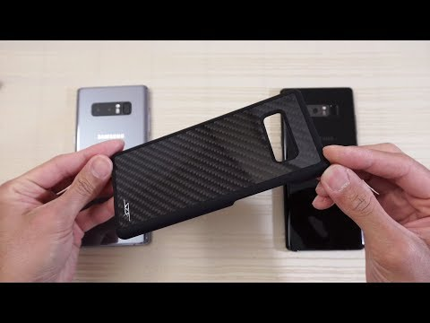 Download Youtube: Simply Carbon Fiber Case for Galaxy Note 8! Real CF!!