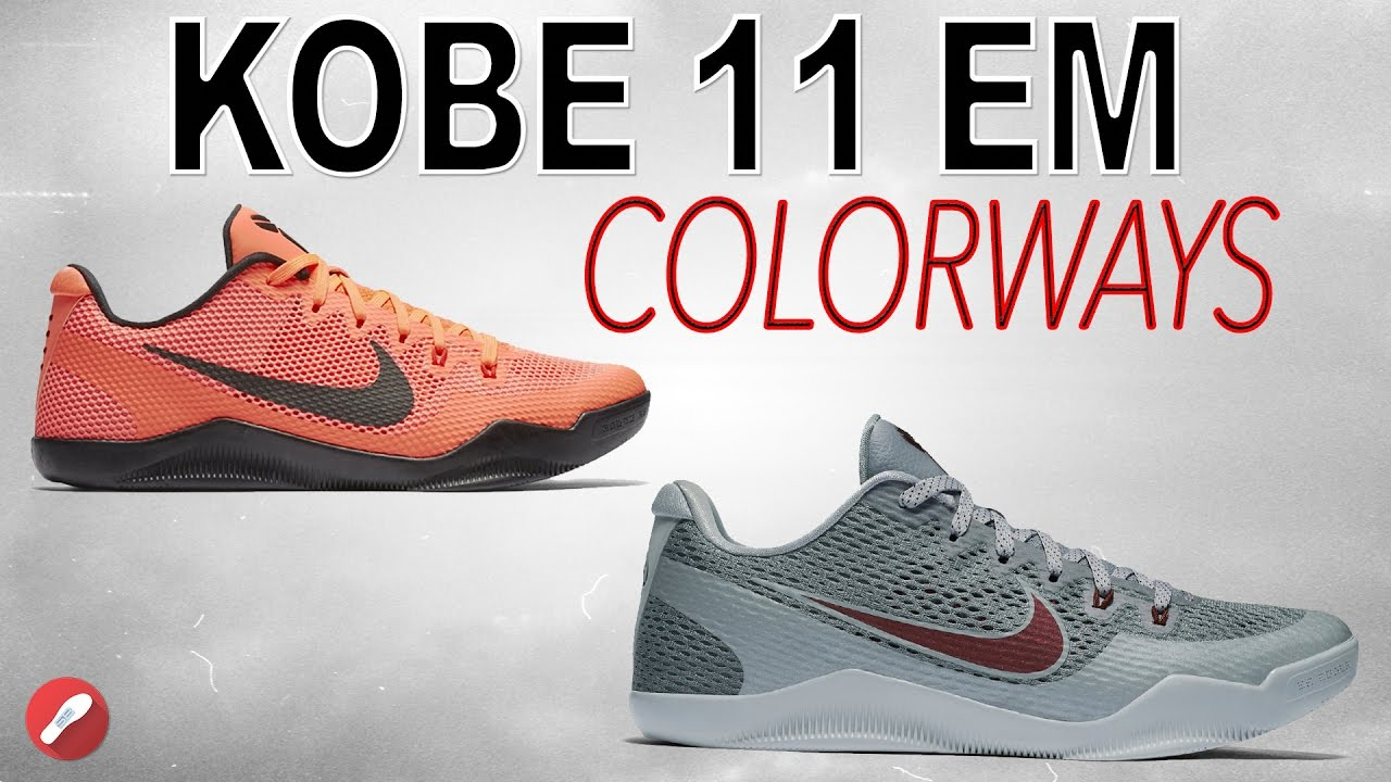 610aec3709e2 Top 5 Kobe 11 EM Colorways! - YouTube