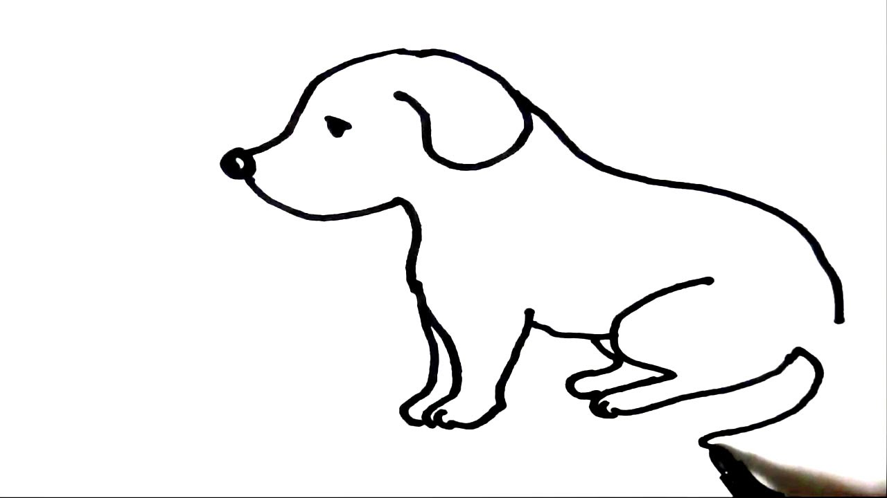 How to draw Puppy- Step by step for children, kids