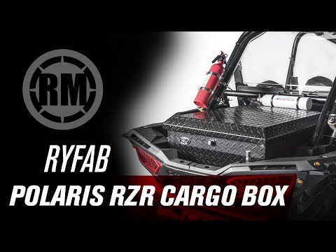 Fits Polaris Ranger RZR 900 Trail 2015-2018 Ryfab Aluminum Cargo Box with Top Rack Black