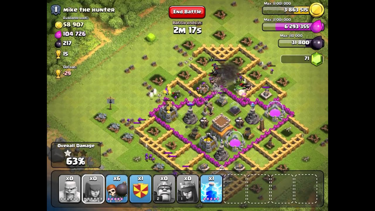 Clash of clans attack strategy farming tactics pt 9 youtube