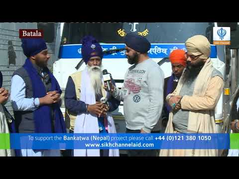 150218 Sikh Channel Aid  Team in Batala for Nepal Project
