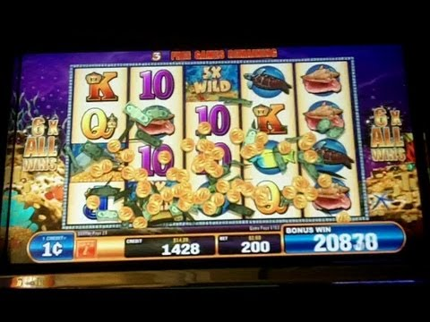 Bally - Golden Reef Slot Line Hit & Bonus