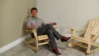 Pair Of Natural Adirondack Rocking Chairs - Product Review Video