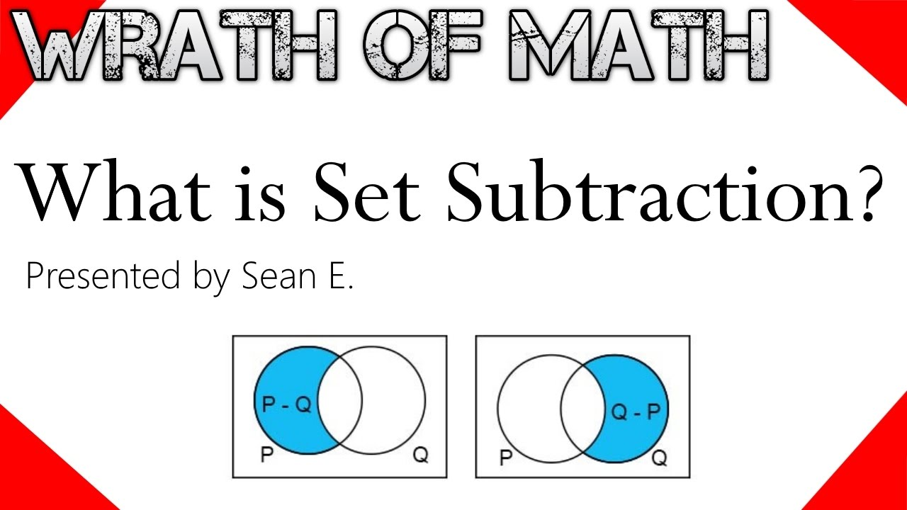 What Is Set Subtraction