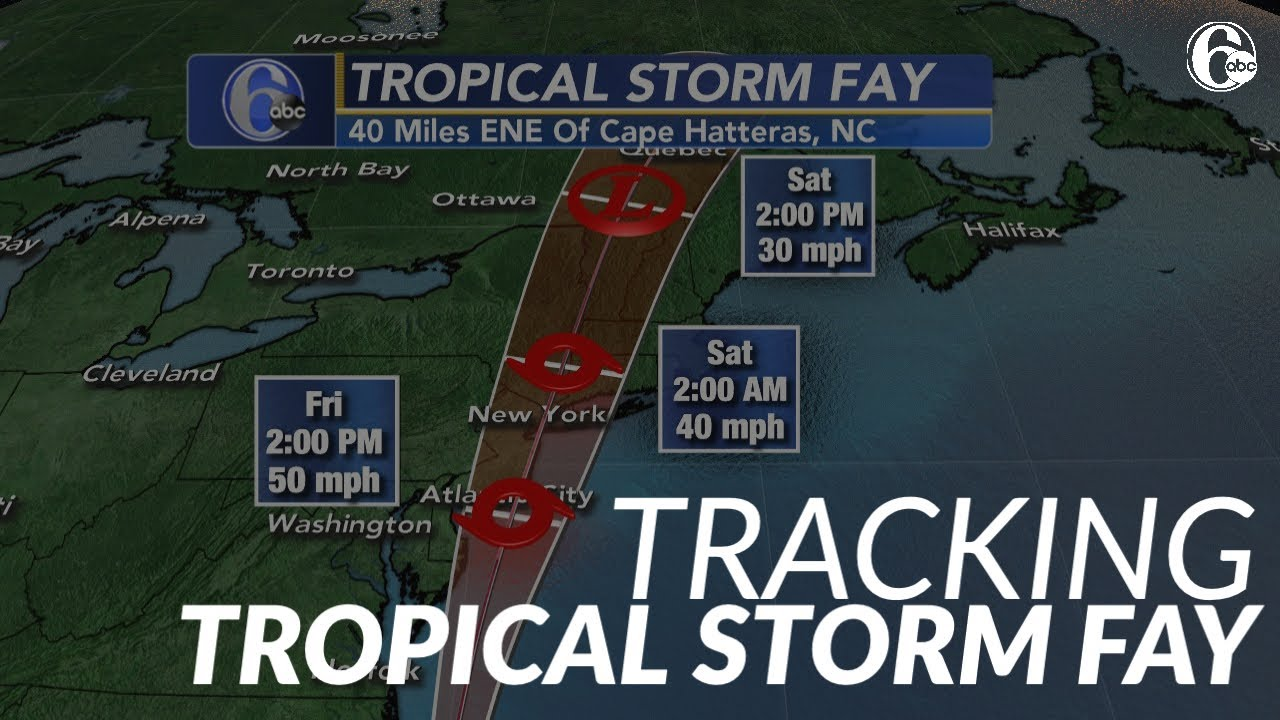 Tracking Tropical Storm Fay: Timing, impacts and storm path