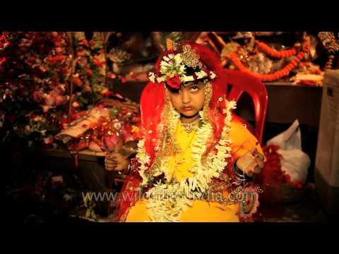 Child being worshipped during Durga puja: Kolkata
