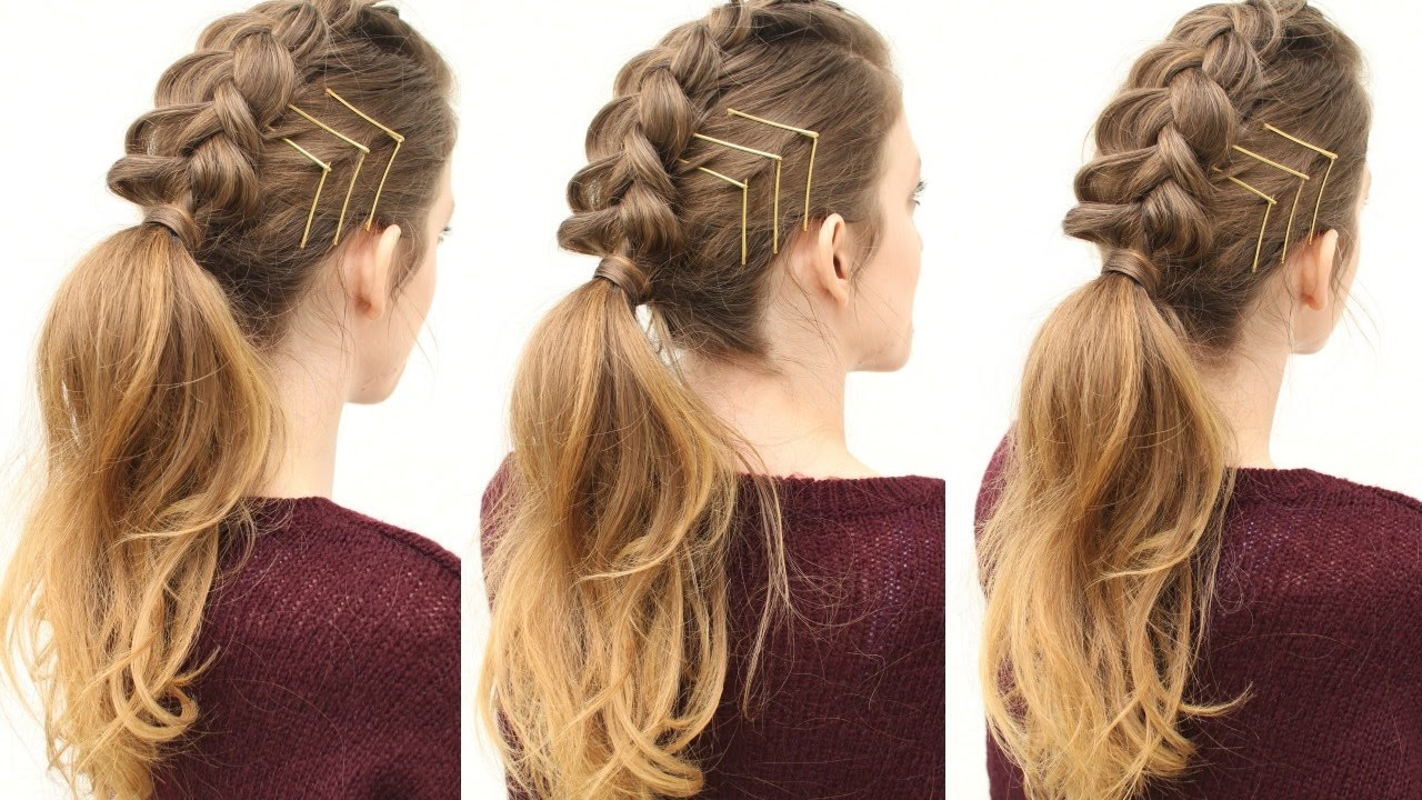edgy braided ponytail hairstyles | ponytail hairstyles