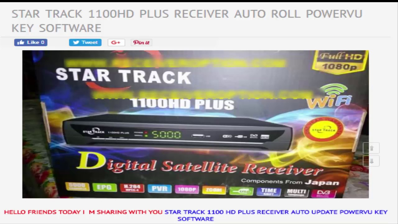 Star Track SRT 150 Gold New HD Receiver Software