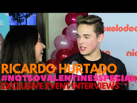 Ricardo Hurtado interviewed at Nickelodeon's Not So Valentine's Special preview party