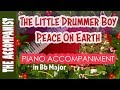 Little Drummer Boy / Peace on Earth - Bing Crosby/David Bowie- Piano Accompaniment - Karaoke