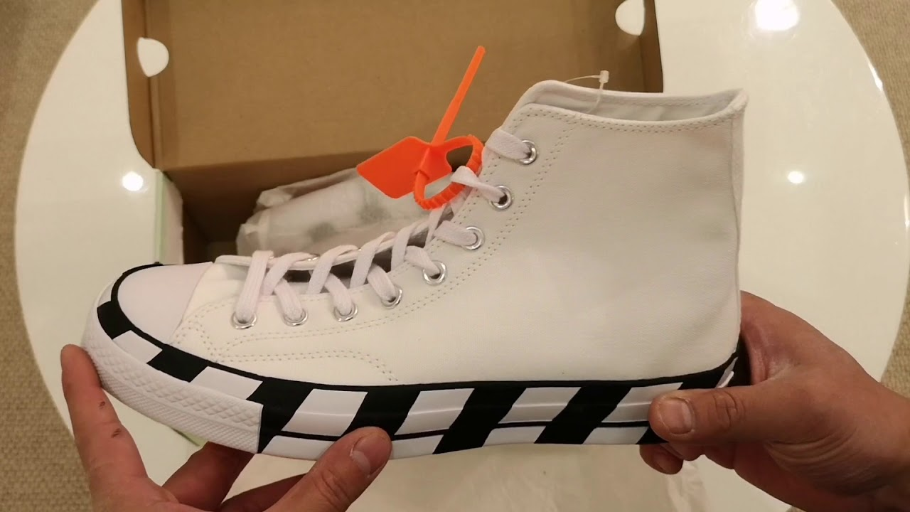 Converse X Off White Chuck Taylor 1970 Hi Optical White: Unboxing and First Impressions
